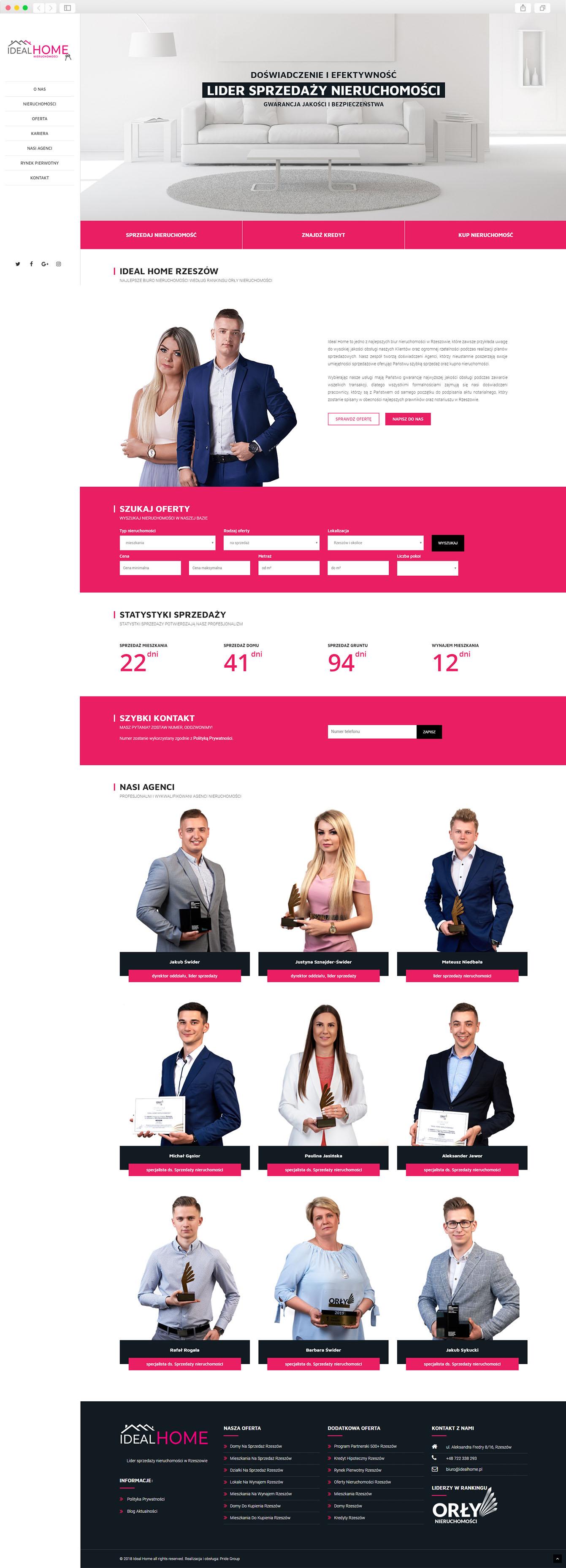 Strony Internetowe Kraków - realizacja IdealHome