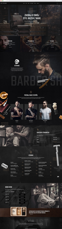 Sklep Internetowy Kraków - realizacja Barber / Fryzjer