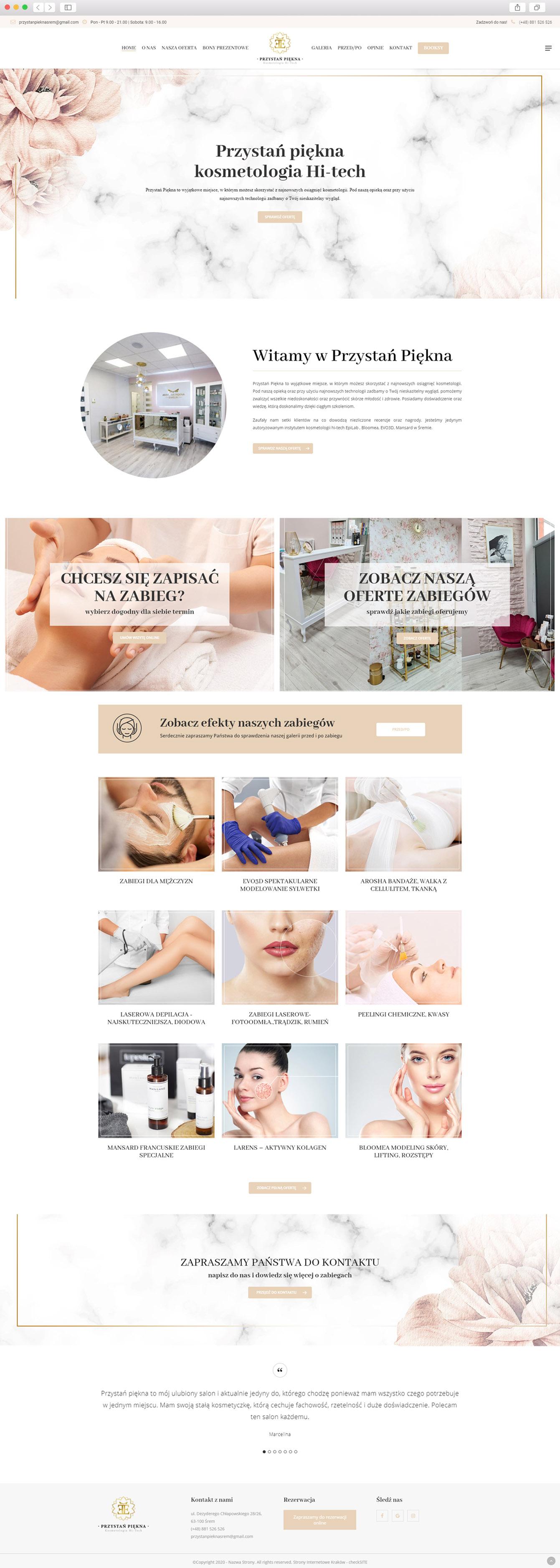 Sklep Internetowy Kraków - realizacja Salon Kosmetyczny